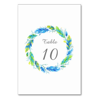 Bright Boho | Modern Wedding Table Number Card