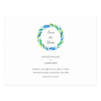 Bright Boho   Wedding Save The Date Postcard
