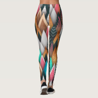Bright Bold And Sassy Abstract Leggings