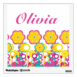 Bright Bold Baby Girl Large Flower Floral Colorful Wall Sticker