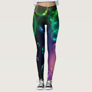 bright bold bubble desing leggings