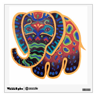 Bright Bold Elephant Design Wall Decal