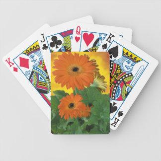 Bright, Bold Gerbera Dasies Poker Deck