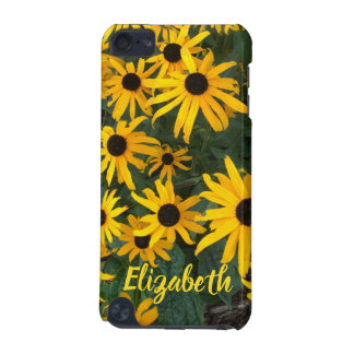 Bright Brown Eyed Susans and Name iPod Touch (5th Generation) Covers
