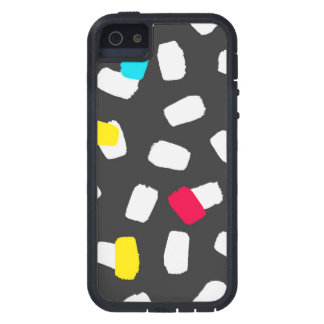 Bright Brushstrokes on Gray iPhone 5 Cover