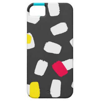 Bright Brushstrokes on Gray iPhone 5 Covers