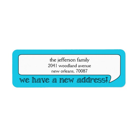 Bright Bubble New Address/Moving Announcement