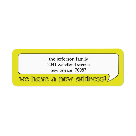 Bright Bubble New Address/Moving Announcement Return Address Label
