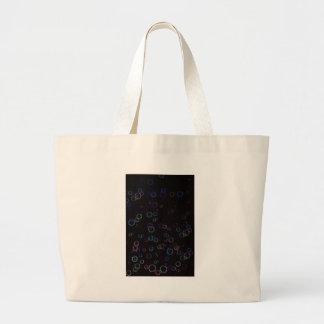 Bright bubbles large tote bag