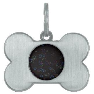 Bright bubbles pet tags