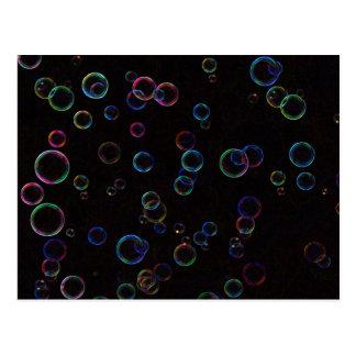 Bright bubbles postcard