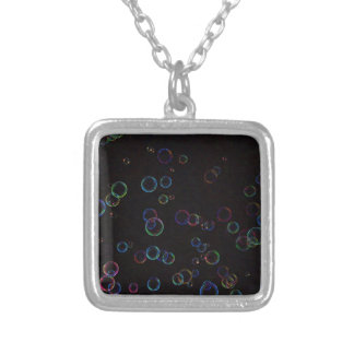 Bright bubbles silver plated necklace