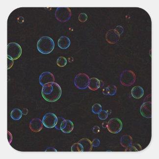 Bright bubbles square sticker