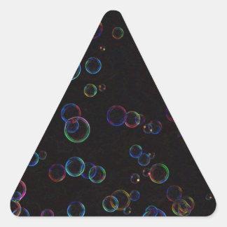 Bright bubbles triangle sticker