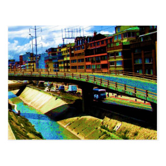 Bright Buildings in Bogota Postcard