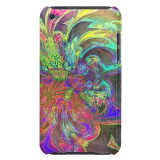 Bright Burst of Color – Salmon & Indigo Deva Barely There iPod Covers