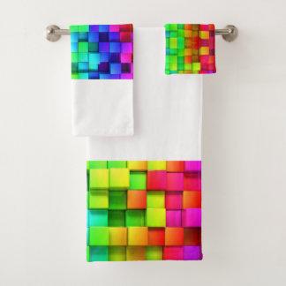 Bright Busy Perky Eye-popping Bath Towel Set