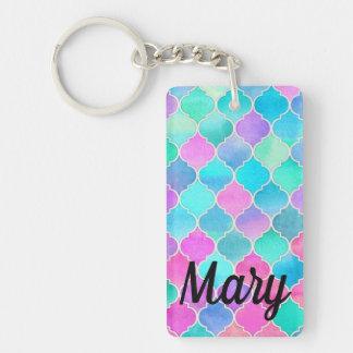 Bright Busy Perky Eye-popping Colorful Custom Keychain