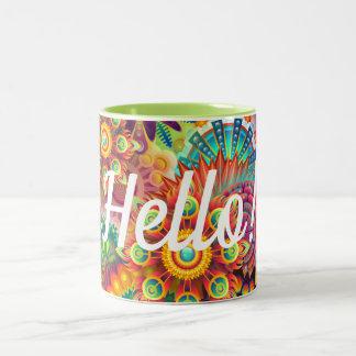 Bright Busy Perky Eye-popping Colorful Two-Tone Coffee Mug
