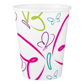Bright butterflies paper cup
