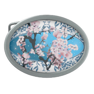 Bright butterfly collection with splashes oval belt buckle