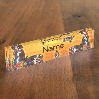 Bright Butterfly Nameplate