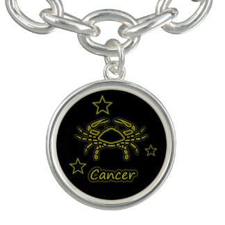 Bright Cancer Charm Bracelets