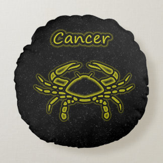 Bright Cancer Round Pillow