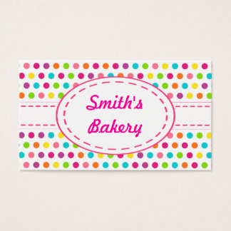 Bright Candy Dots Business Cards