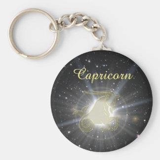 Bright Capricorn Basic Round Button Keychain