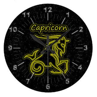 Bright Capricorn Large Clock