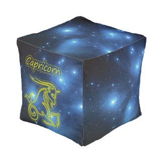 Bright Capricorn Pouf