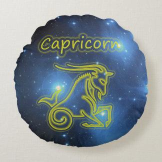 Bright Capricorn Round Pillow
