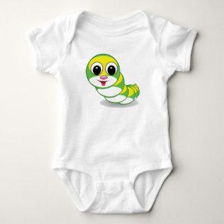 bright caterpillar worm baby bodysuit