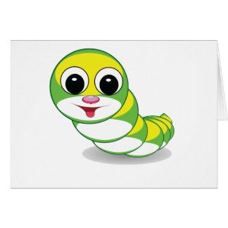 bright caterpillar worm card