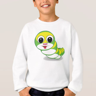 bright caterpillar worm sweatshirt