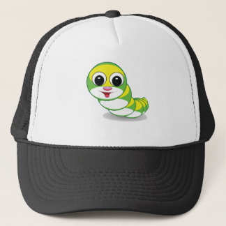 bright caterpillar worm trucker hat