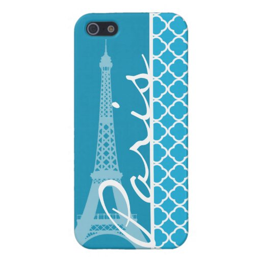 Bright Cerulean Quatrefoil Cover For iPhone 5