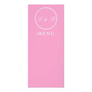 "Bright Chalky Pastel Magenta Wedding Decoration 4"" X 9.25"" Invitation Card"