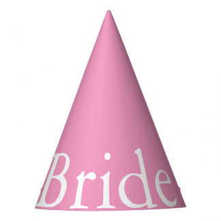 Bright Chalky Pastel Magenta Wedding Party Gifts Party Hat