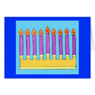 Bright Chanukah Wishes Card