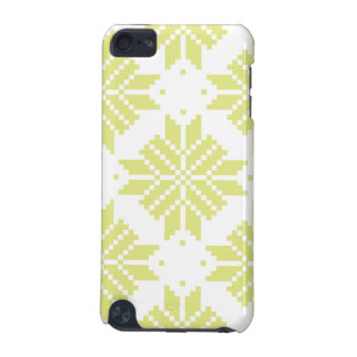 Bright Chartreuse Nordic Star Pattern iPod Touch 5G Covers