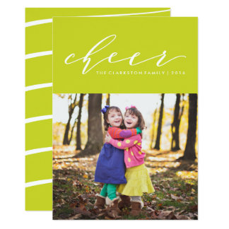 Bright cheer holiday photo card