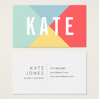 Bright Cheerful Colors Business Card