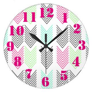 Bright & Cheery Arrows Wall Clock
