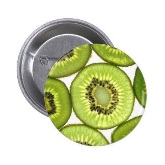 Bright, Cheery Green Kiwi Pinback Button