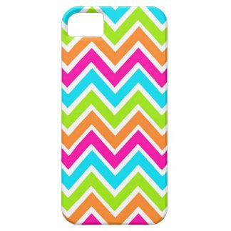 Bright Chevron Designer Zig Zag Pattern iPhone 5 Cases