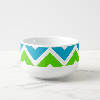 Bright Chevron Pattern Soup Mug