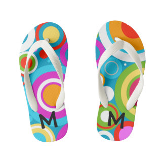 Bright Circles Flip Flops, Kids and Toddlers Kid's Flip Flops