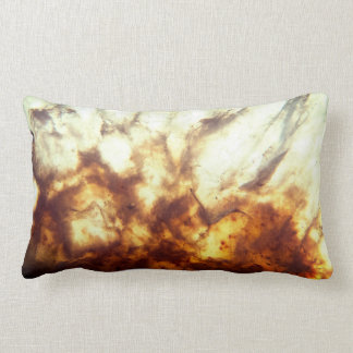 Bright Citrine Crystal Lumbar Pillow